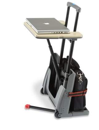The Rolling Luggage Cart And Desk