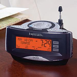 SmartSetWeather Alarm Clock with AM FM Radio