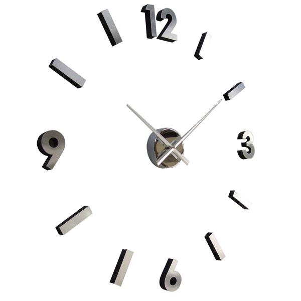 Adhesive Numbers Metal Wall Clock 7 Gadgets