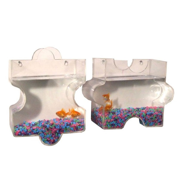 Puzzle wall mount fish bowls for Wall mount fish bowl