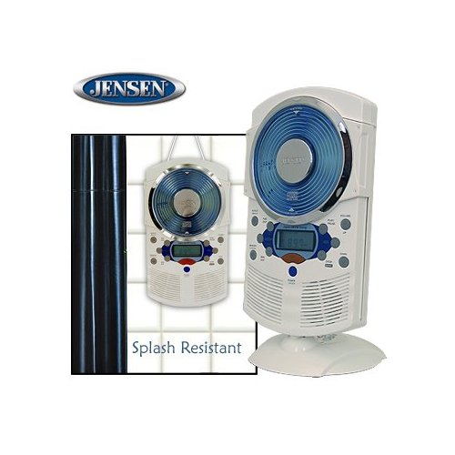 STEREO SHOWER CLOCK RADIO AND CD PLAYER<br />