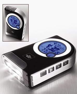Travel Atomic Alarm Clock with LED Flashlight