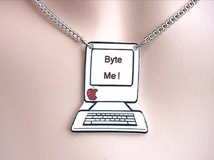 BYTE ME Computer Necklace