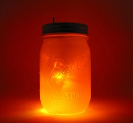 Sun and Moon Mason Jar Night Light