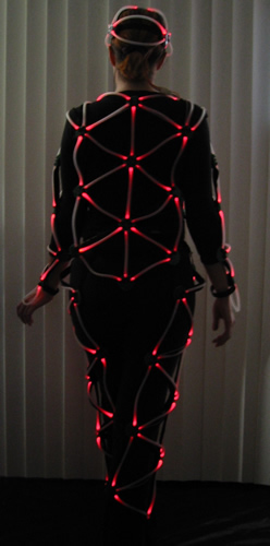 Costume with multi-color LEDs