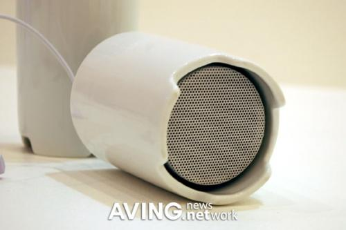 Cup-shaped portable speaker