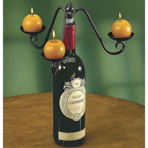 Wine Bottle Topper Candelabra