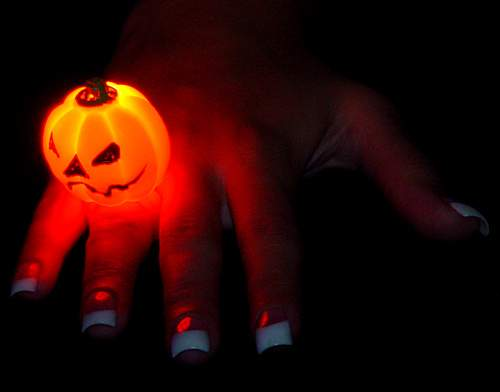 Flashing Pumpkin Ring