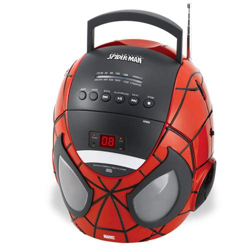 Spider-Man CD Boombox with AM/FM Radio