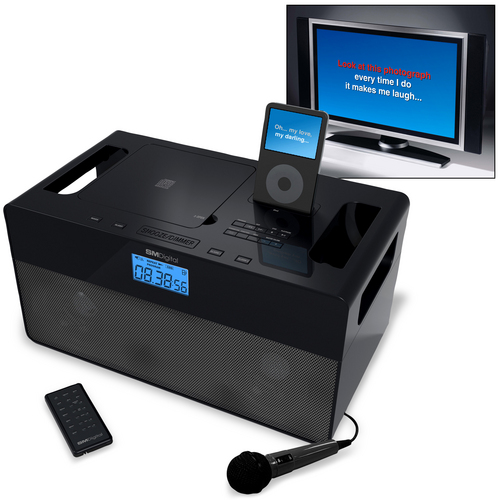 iPod Docking Station with CD/CD+G Karaoke System
