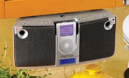 Under-Cabinet iPod Player/Boombox