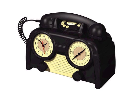 Retro Clock Radio Telephone