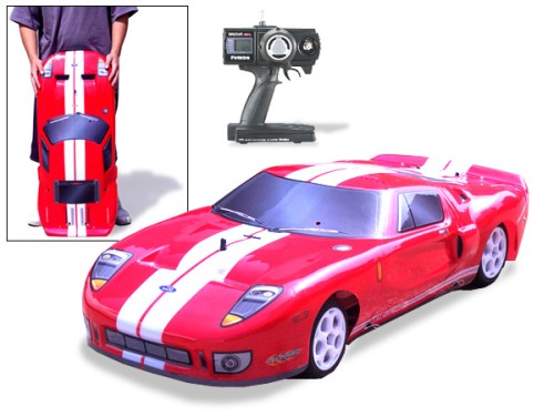 Gigantic Ford GT Nitro Gas RC Car