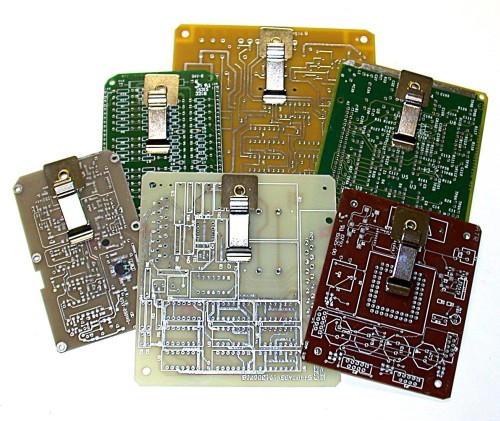 RECYCLED CIRCUIT BOARD MINI-MAGNETIC CLIPBOARDS