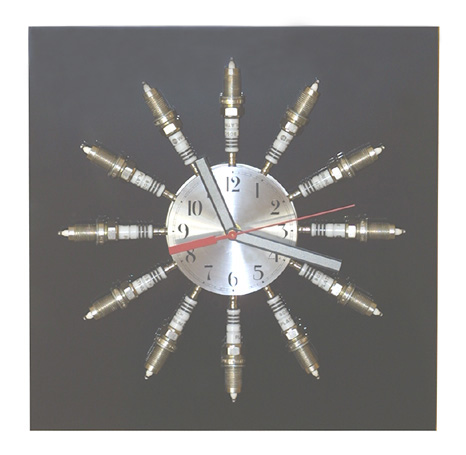SPARK PLUGS WALL CLOCK