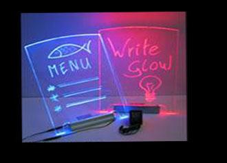 Write-Glow message