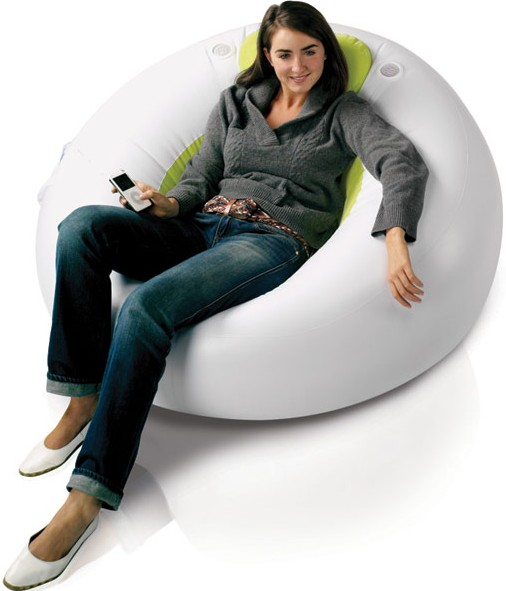 Inflatable Lounger - With Built In Speakers