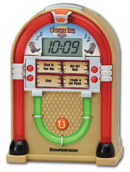 Soundesign Lighted Jukebox Alarm Clock