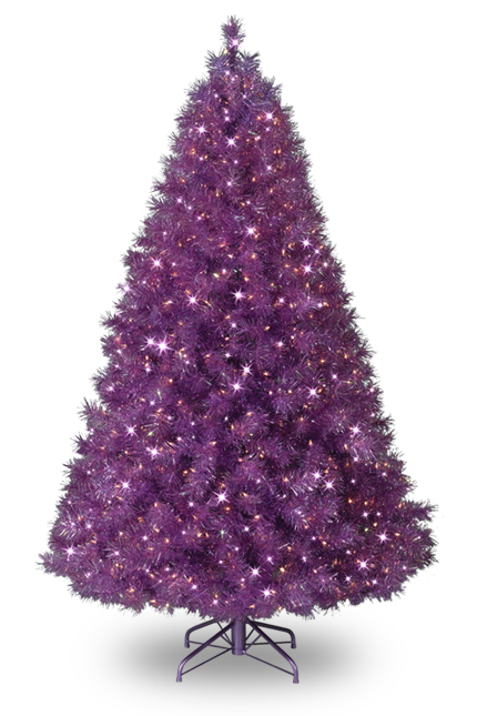 7 Colored Christmas Trees