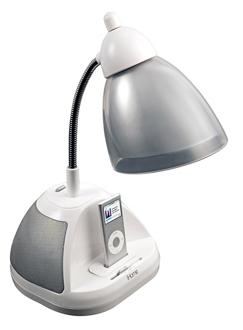 iPod Dock and Speakers Desk Lamp