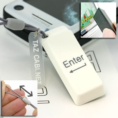 Mobile Display Cleaner Cell Phone Strap