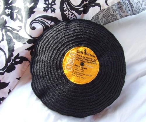 Record Cushion David Bowies