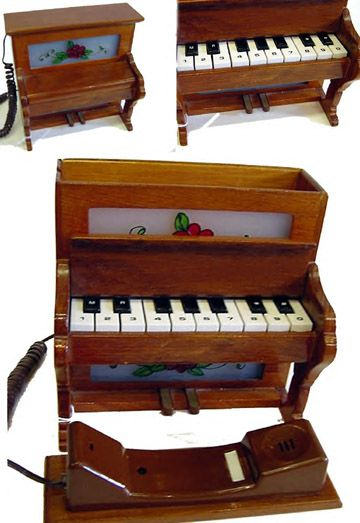 Wooden Piano Telephone 7 Gadgets