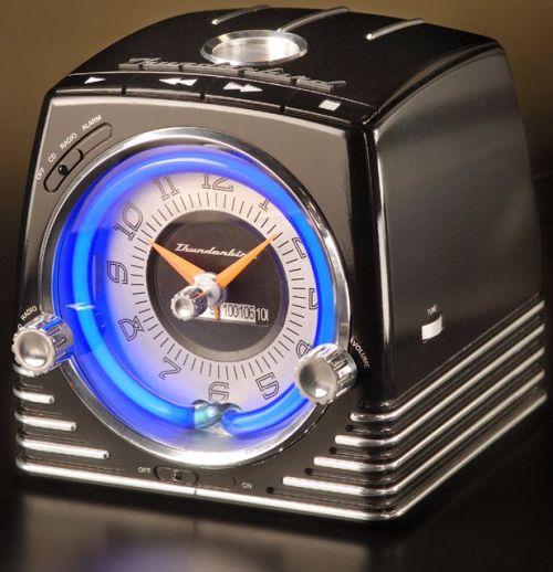 Retro Neon Alarm Clock Radio