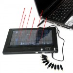 Solar Charger Battery for PC Laptop + Mobile Phone