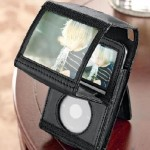 Video iPod® Holder with Magnifier
