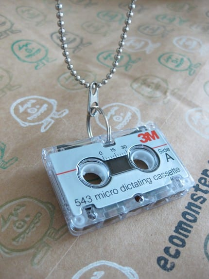 Mini Cassette Tape Necklace