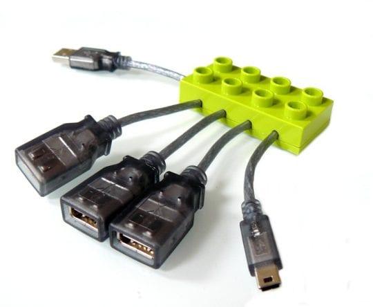 Port Cable-Hub 3xUSB 1xMini USB