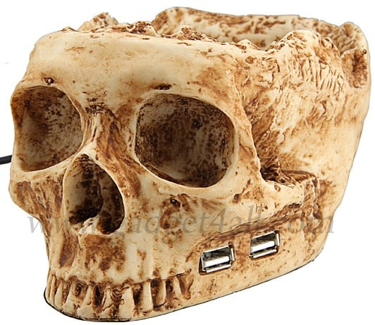 USB Skull Hub With Holder