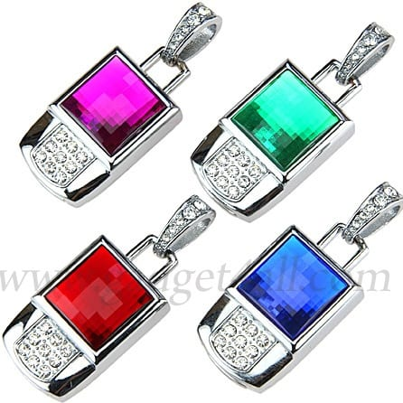 Jewel Square Necklace USB Flash Drive