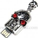 Jewel Skull Necklace USB Flash Drive
