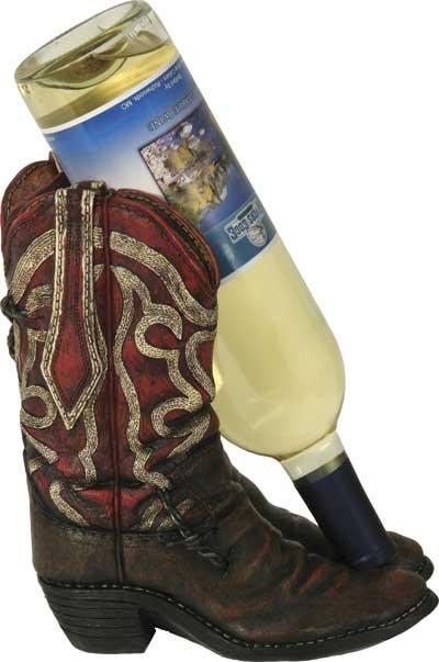 Cowboy Boot Novelty Wine Holder