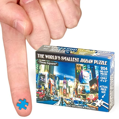 WORLD SMALLEST JIGSAW PUZZLE TIMES SQUARE