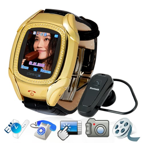 Quadband Cellphone Wrist Watch