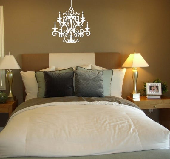 Elegant Chandelier viny wall decal