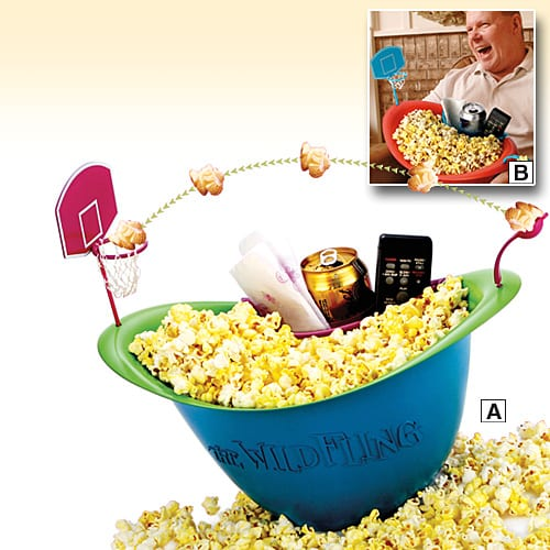 Popcorn basketball bowl