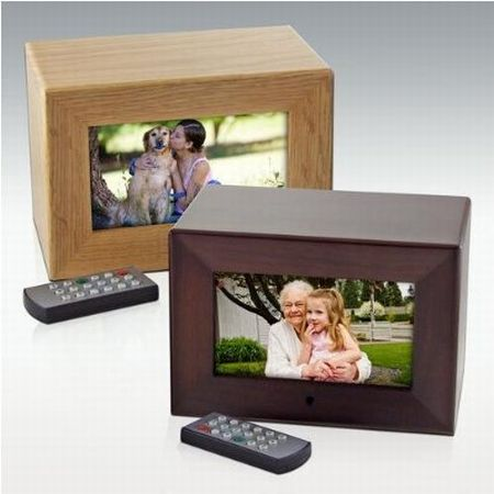 Digital Photo Frame Cremation Urn