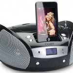 Portable CD Boombox for iPod