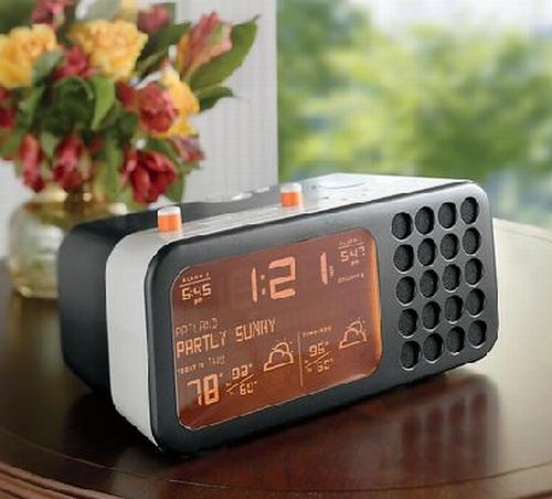 "Ambientâ""¢ Mist Weather Clock Radio"