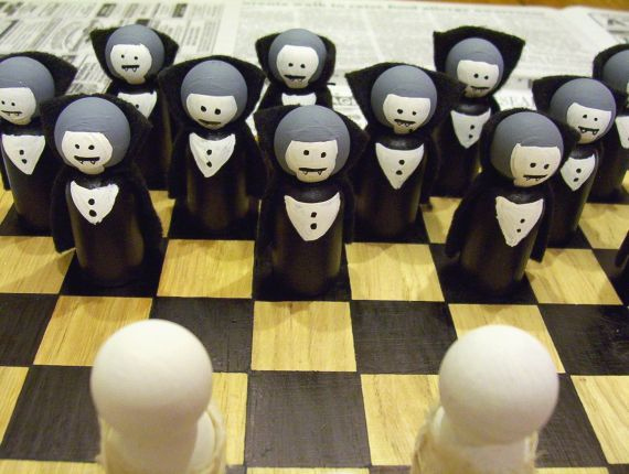 Mummies and Vampires Checkers for Halloween