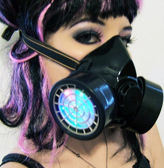 LIGHT-UP LED RESPIRATOR GAS MASK HALLOWEEN