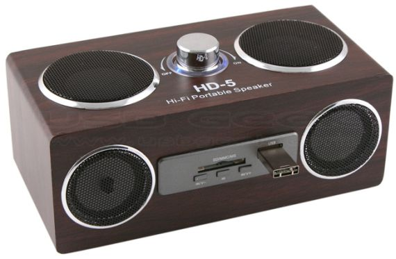 USB Retro Wooden Speaker/MP3 Player
