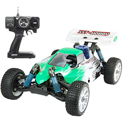 1:8 Scale Nitro Race Car With Pistol Grip Remote Control
