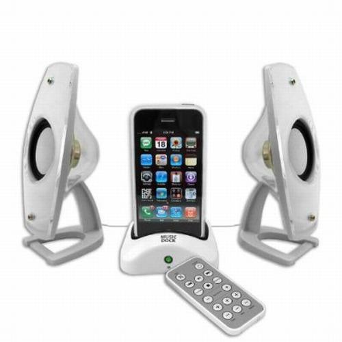Hi Fidelity Speaker System & Charger Docking Station w/ Remote
