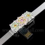 Jewel Flower Bracelet USB Flash Drive