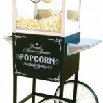 4oz Popcorn Machine with Free Standing Cart